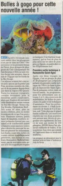 Journal de Millau du 23 Janvier 2014