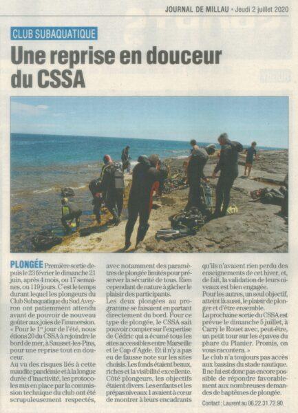 Journal de Millau du 2 Juillet 2020